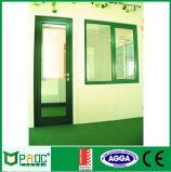 Дверь Casement эффективной алюминиевой рамки энергии стеклянная с двойной застеклять