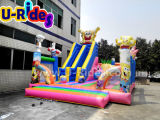 ボブの巨大な膨脹可能なコンボの障害子供のためのスライドが付いている膨脹可能な跳躍の城の楽しみ都市