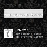 Silla de poliuretano moldeado riel Panel liso de la arquitectura de cornisa Hn-8218 PU