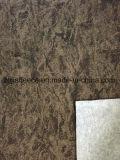 Panno morbido grigio del Melange della spazzola di Mirco con la facciata frontale della stampa