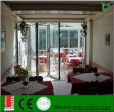 Portello Bi-Fold di alluminio del materiale da costruzione e portello di fisarmonica di vetro con ISO9001
