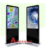 Un'affissione a cristalli liquidi da 49 pollici, visualizzazione di comitato del LED che fa pubblicità al riproduttore video seleziona il contrassegno di Digitahi del chiosco