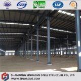 Entrepôt léger préfabriqué portatif de structure métallique de projet principal de spire de la Chine