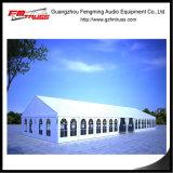 Festzelt-Zelt mit weißem verziertem zeichnendem Vorhang