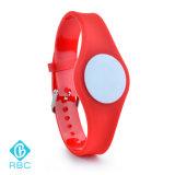 Bracelete sem contato barato impermeável do smart card da identificação do Wristband do silicone