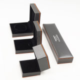 Flannelette que se reúne el rectángulo de joyería plástico de cuero de la PU (J70-E1)