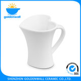 Soins de santé Coupe de café en forme de coeur blanc en porcelaine