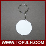 Os dois lados Printable Sublimation 3D Polymer Key Chain