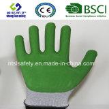 Le caoutchouc spongieux a enduit les gants de jardinage de sûreté de gants de travail