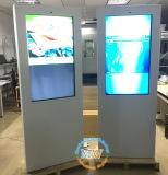 De zilveren Witte Zwarte Facultatieve Tribune van de Vloer LCD van 55 Duim het Scherm van de Advertentie Openlucht (mw-551OE)