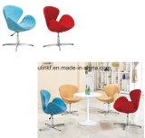 Elegante Salon-Möbel-metallhaltiger Gewebe-Freizeit-Sofa-Stuhl (UL-JT829)