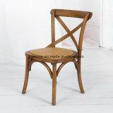 Chaise à manger en bois à dossier en bois (RCH-4001-11)