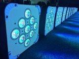 9PCS*15W 5in1 Rgbaw het LEIDENE Vlakke PARI kan aansteken, kan het LEIDENE van de Disco DMX Vlakke PARI