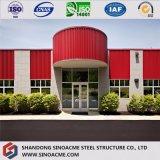 Costruzione pre costruita moderna della costruzione della struttura d'acciaio di disegno con il prezzo basso