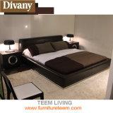 Кровать кожи спальни конструкции горячего сбывания новая