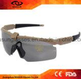 도상 작전 연습 Airsoft 총격사건을%s 육군 색안경 전술상 유리 Eyeshield를 입히는 군 고글 3 5 렌즈