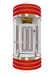 Elevador de visita turístico de excursión panorámico del vidrio de la cápsula de la observación segura sin engranaje de la tracción