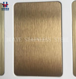 PVD Goldrosen-GoldEdelstahl farbiges Blatt Metallplatten für Dekoration