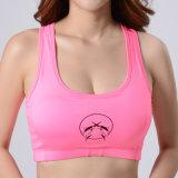 La ginnastica sexy della maglia di compressione di sublimazione del bikini della donna mette in mostra il reggiseno