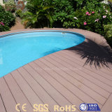 Painel composto plástico de madeira do Decking ao ar livre para a piscina