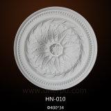 Techo Rose/placa Hn-010 del poliuretano de los medallones del techo de la PU