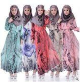 De broderie robe turque élégante Chiffon de Kaftan longtemps pour le femme