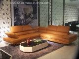 Домашняя софа неподдельной кожи мебели (H2981A)