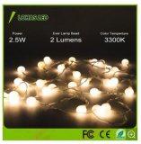 2,5 1,5 W exterior impermeable color blanco cálido de la luz de la cadena de LED de carga USB Luz de Navidad
