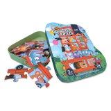 Forme de bus d'animaux Cadeau Personnalisé Papier de l'éducation Puzzle jouet pour enfants