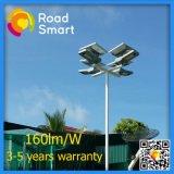 Luz de calle solar integrada inteligente del jardín del LED con el sensor de movimiento