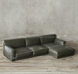 Кровать софы кожи комнаты мебели живущий с пером