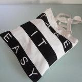 Mode noir et blanc de loisirs Sac en toile rayée de la plage