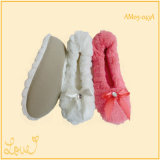 Ladies Girls Cute Soft Warm Home Dance Shoes Zipper