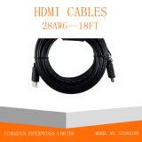 1.4V cavo del Maschio-Maschio HDMI della spina placcato oro ad alta velocità 1080P