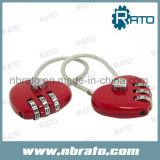 Serratura a forma di del cuore in lega di zinco di combinazione
