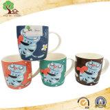 Nuova tazza di ceramica di Cina di osso dalle 12 once con il reticolo sveglio degli animali