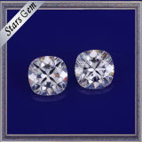 Forme de coussin de haute qualité Brilliant Diamond Cut Synthetic White Moissanite Gemstone pour bijoux