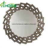 De estilo europeo espejo redondo de hierro en el hogar Decoración de pared Espejo de colgar de artesanía
