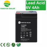 Bateria recarregável de ácido-chumbo de alta performance 6V 4ah