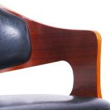 Okkernoot Gefineerd Triplex Barstool