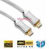 Cable lleno de Platedl HDMI TV del oro de HD 1080P/1600p/2160p/3D/4K