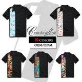 새로운 패턴 검정 하와이 셔츠 면 주문 Mens 옷