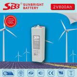 Batería recargable del gel de Opzv 2V800ah de la batería de SBB
