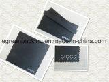 Schwarzes Microfiber Brille-Putztuch-Weiß-Firmenzeichen