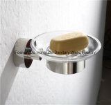 Роскошная тарелка мыла оборудования ванной комнаты с стеклом