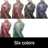 Tessuto nero del Sequin del commercio all'ingrosso di colore per il vestito da cerimonia nuziale