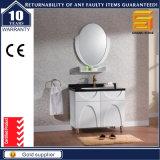 ミラーが付いている白いラッカー純木の浴室の家具のキャビネット