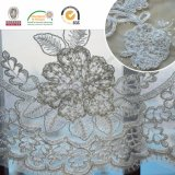 Tessuto bianco del merletto del fiore splendido 3D per la cerimonia nuziale & la signora Dress C10015