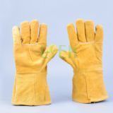 Колесико с накаткой проложенная коровы Softtextile зерна кожаные перчатки, защитные перчатки