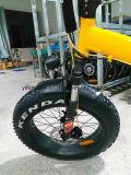 Bicicleta elétrica dobrável com pneus gordos de alta potência de 20 polegadas